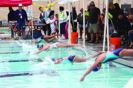 File photo Dennis Evanosky &nbsp&nbsp Swimmers of all ages are invited to participate in the city's annual swim competition this weekend. This year marks the 64th year the swim meet has been held.