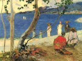 """Wikipedia &nbsp&nbsp Learn about impressionist artist Paul Gaughin's life, works and spritual journey at a presentation set for Monday, Dec. 10, at the Alameda Main Library. Gaughin painted """"Bord de Mer II"""" (above) in 1887."""