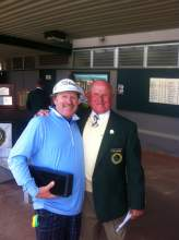 Senior division champ Casey Boyns with one of the Green Jackets. Photo: Mike Maurice