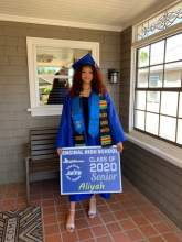 Courtesy photo &nbsp&nbsp Encinal High School grad Aliyah Smith holds onto her Class of 2020 yard sign.