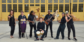 Courtesy photo  Azúcar Con Aché, an all-female Latin jazz and spicy salsa band performs at Rhythmix Cultural Works this Saturday, Sept. 24.