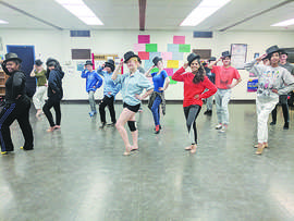 Courtesy photo &nbsp&nbsp Students at Encinal High School have been hard at work practicing their dance moves for the school's upcoming production of A Chorus Line. The Encinal Drama Club's performances start next Friday, April 13.