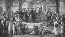 Wikimedia Commons &nbsp&nbsp It all began when Martin Luther nailed his 95 theses to the door of Wittenburg Castle Church on Oct. 31, 1517. Celebrate the 500th anniversary of the Reformation with Trinity Lutheran Church Sunday, Oct. 29. Above, a detail from an 1877 painting by Julius Hübner depicts Luther's historic act.
