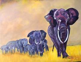 Purchase Cheryl Harawitz' elephant art to help stop the ivory trade.