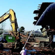 In early February, buildings began coming down at Alameda Marina. Demolition of structures north of Clement Avenue that once housed long-standing maritime- related businesses continued throughout the year