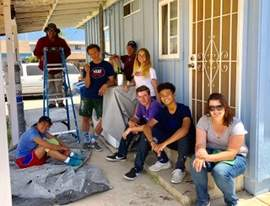 Courtesy photo &nbsp&nbsp Students from St. Joseph Notre Dame High School helped restore homes near the U.S.-Mexico border.