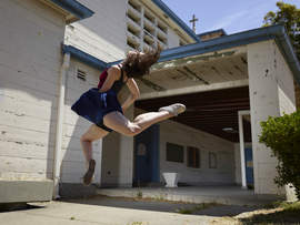 David DeSilva &nbsp&nbsp Alameda Point serves as an inspiring backdrop for the inaugural Animate Dance Festival set for this Saturday, Oct. 27. Above, Julie Crothers is among the 150 dancers expected to perform.