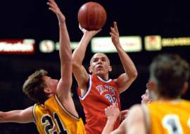 Courtesy jasonkidd.com &nbsp&nbsp Jason Kidd, shown here as a St. Joseph Notre Dame High School Pilot, was inducted into the Bay Area Sports Hall of Fame last January. He won two state titles while playing at home in Alameda.