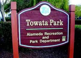 Courtesy photo Below right, in 1991 City Council rededicated Bridgeview Park as Towata Park honoring lifelong Alamedan John S. Towata.