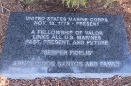 This plaque is one of many that ring the park.