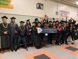 Courtesy Alameda Unified School District &nbsp&nbsp Graduates from the Alameda Adult School Class of 2019 celebrated their graduation with a ceremony on June 6. Below are all of Alameda's public school graduates followed by St. Joseph Notre Dame High School's Class of 2019.