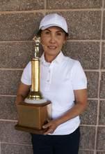 Courtesy photo &nbsp&nbsp Tai Chewpanich displays the President's Trophy she won last Thursday.