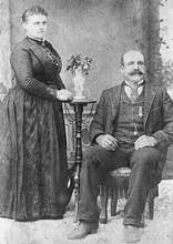 File photo &nbsp&nbsp George Anderson and his wife, Josephine, lived on Bay Farm Island. In this portrait, George wears his Grand Army of the Republic medal.