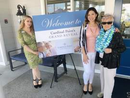 Courtesy photo &nbsp&nbsp Oakmont at Cardinal Point team members mingled with guests June 10 when the senior living community unveiled its newly remodeled facility.