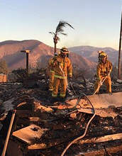 Alameda Fire Department  &nbsp&nbsp Members of the Alameda Fire Department assist with structure protection and search for casualties from the Creek Fire, after their deployment on Dec. 5. They were later deployed to help fight the Thomas Fire. Crewmembers from two Alameda fire engines are fighting this large wildfire in Southern California.