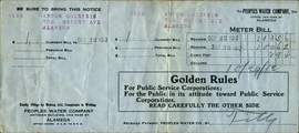 Courtesy photo &nbsp&nbsp This 1912 water bill contained some philosophical pointers on the reverse side.