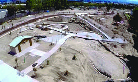 Courtesy photo &nbsp&nbsp An aerial shot of Jean Sweeney Park shows how construction is progressing. To provide a more personalized view of the city's newest park, two public tours have been arranged during the next week.