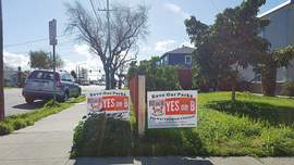 "Eric J. Kos &nbsp&nbsp Supporters of Measure B have recently accused the Alameda Sun of bias, in part based on the presentation of a ""Yes on Measure A"" sign photo on its front page (""Center Opponents Facing Challenges,"" Feb. 28). Those same supporters of Measure B reported the sign pictured Feb. 28 for lacking a Fair Political Practices Commission number, which made the sign itself newsworthy, but not illegal."