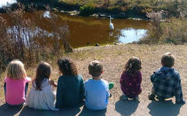 Photos courtesy of Dan Burr &nbsp&nbsp Students at Neptune Nature School observe a heron in its natural habitat.