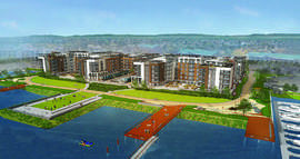 City of Alameda &nbsp&nbsp The Cavallari Group will present a brand-new plan for the Shipways development to the Planning Board next Monday. The new plan has four buildings instead of the single one in the original plans.