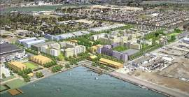 City of Alameda - Roofs on new buildings planned for Alameda Point will be able to handle solar panels. It remains unclear whether the panels will be installed.