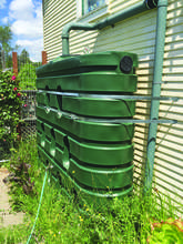 Courtesy photo &nbsp&nbsp A 600-gallon water tank, shown here with bracing, can store water for when it becomes scarce and keep gardens alive during a drought.