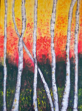 """""""Birch Trees"""" by Cheryl Harawitz will be on display at Studio 23 for second Fridays this month."""