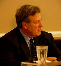 Dennis Evanosky - City Manager John Russo listens to a speaker at a recent City Council meeting.