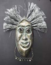 "Courtesy photo Vicki Newcomer's ""Lyricist,"" a mask in ceramics and mixed media will be on display during Open Studios the next two weekends."