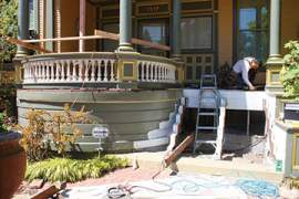 Courtesy Pacific Northwest Painters & Construction The removal and replacement of a Victorian-era home's dry-rotted stairs requires some special handling. Learn tricks of the trade at a lecture set for this Sunday.