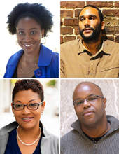 Courtesy photo &nbsp&nbsp Local authors, clockwise from top left: Jeneé Darden, Tongo Eisen-Martin, James Cagney and Audrey T. Williams, will speak Friday night at Books Inc.