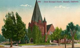 Courtesy Alamedainfo.com &nbsp&nbsp Christ Episcopal Church at 1700 Santa Clara Ave., shown here in its previous incarnation, has an annual tradition of inviting the community to a free Thanksgiving Day meal. The public is invited 11 a.m. to 2 p.m. For more information call 523-7200.