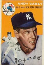 Courtesy sabr.org &nbsp&nbsp According to the Society for American Basebal Research, third baseman and Alameda High School graduate Andy Carey had a turbulent career as one of Yankees Manager Casey Stengel's frequent targets for blame.