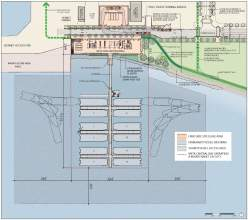 Image courtesy WETA  Builders have been chosen to execute this plan for a new ferry maintenance facility.