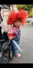 "Courtesy Linda Asbury &nbsp&nbsp The infamous doll ""Chucky"" was seen haunting Webster Street this Halloween."