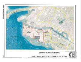 Courtesy City of Alameda. This map depicts the area affected by less-than-optimal water quality.