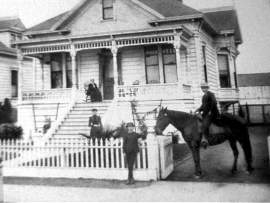 Nunley Family Tree, Ancestry.com. The Copp family posed for this picture in front of their home at 2019 Pacific Ave. about 1900. Little has been done to change the character of the home since then.