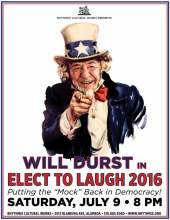 "Courtesy image  Comedian Will Durst wants you to ""Elect to Laugh"" this Saturday."
