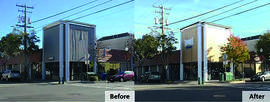Courtesy photo &nbsp&nbsp Tap Out Fitness, formerly Citibank, on Webster Street took advantage of the city's Façade Grant Program to refurbish their building.