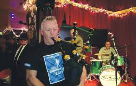 Courtesy photo &nbsp&nbsp Alameda Bagpiper Andy MacKay raised thousands to fight cancer on New Year's Eve. Locals can still help.
