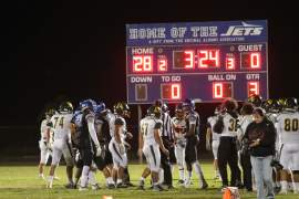 Tyreze Borillo &nbsp&nbsp The Jets defense has shut out five opponents this season. The latest to fall, the Castro Valley Trojans, lost to Encinal High School's football team last Friday, 35-0.