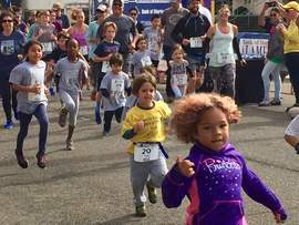 Courtesy photo &nbsp&nbsp&nbsp Runners of all ages enjoyed running in last year's Family Fun Run, part of the Alameda Running Festival.