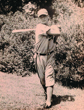 Courtesy playball94501.com &nbsp&nbsp Lil Arnerich takes a cut back in 1947 when he played baseball for minor league teams alongside his brothers. The Arneriches commonly shared the field with the Dimaggio brothers.