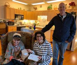 Courtesy photo &nbsp&nbsp  Mayor Marilyn Ezzy Ashcraft, center, and Alameda County Meals on Wheels Board Member Dave Neumann, right, delivered a delicious meal and spent time with Grace, an Alameda resident, in celebration of Meals on Wheels' 46th anniversary.