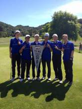The SJND championship men's golf team