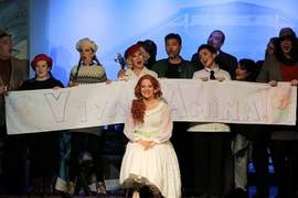 Stefanie Richardson &nbsp&nbsp The chorus sings to Amina in Act 1 of La Sonnambula to celebrate her upcoming marriage to Elvino. Island City Opera's final performances are this weekend.