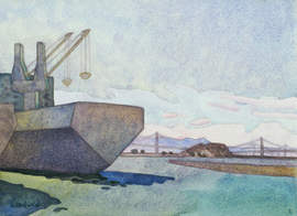 Courtesy photo &nbsp&nbsp Carolyn Lord's watercolor painted at Alameda Point is among the works on display at this year's Plein Aire Paint Out exhibit at the Frank Bette Center for the Arts.