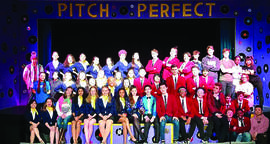 Courtesy photo &nbsp&nbsp The cast of Pitch Perfect: The Musical will perform three more shows this weekend at Alameda High School.