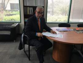 Jessica Mei &nbsp&nbsp AUSD Superintendent Pascuale Scuderi took some time to answer questions for the Alameda Sun in his office at the district headquarters.