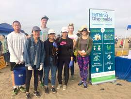 Courtesy photo &nbsp&nbsp  Miss Alameda Jessica Robinson (right) with student interns left to right Alex Wu, Erika Wu, Ming Gao, Wendi Vien, and Ella Burk. Chris Slafter from Clean Water Fund appears in the back row.